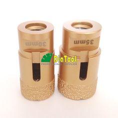 2pcs  30mm+35mm professional quality Vacuum brazed diamond core bits with M14 connection, drilling bits