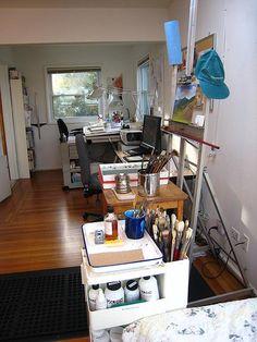 Organized art studio
