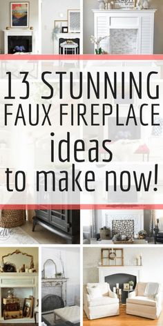 Check out these 13 stunning DIY faux fireplace ideas and make one for your home now! Check out these 13 stunning DIY faux fireplace ideas and make one for your home now! Faux Foyer, Faux Mantle, Fake Fireplace, Fireplace Mantels, Fireplace Ideas, Fireplaces, Mantles, Fireplace Makeovers, Diy Mantel