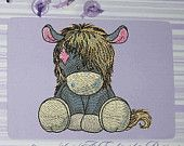 """Pony """"Soprano"""" - machine embroidery design for a baby and children of series """"Old Toy"""", ArtEmbroidery.Ca"""