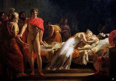 Leon Cogniet - Briseis mourning Patroclus. Tags: trojan war, briseis, patroclus, patroklos,