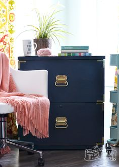 a campaign dresser inspired filing cabinet makeover win the entire amanda forrest fat paint collection ends 03 07 the diy mommy # Furniture Makeover, Diy Furniture, Furniture Refinishing, Repurposed Furniture, Painted Furniture, Amanda Forrest, Campaign Dresser, Master Bedroom Makeover, Home Upgrades