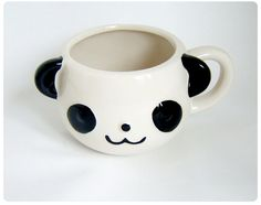 Panda Animal face Porcelain Mug cup- by icecream_drops, via Flickr