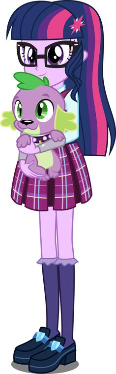 EqG Human Twilight and Spike by xebck on DeviantArt
