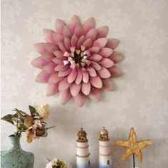 Flower Metal Wall Art metallic wall flowers | metal wall art - flower ( clearance