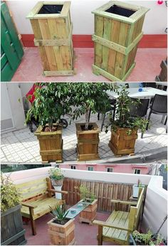 So majestic and artistically planter form of design it is! This planter design are creative design of wood pallet is being featured upon with the classic textured design frame that makes it look overall so fantastic and outstanding in appearance. See it!