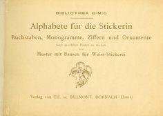 Alphabete für die Stickerin; Buchstaben, Monogr...