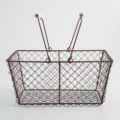 Rectangular Rustic Wire Basket - fill with colorful produce- have 2; can use as prizes