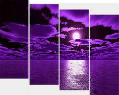 Purple Wall Decor 3 piece wall art white purple lover flower big perfect canvas wall
