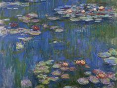 Claude Monet Water-Lilies 1914 art painting for sale; Shop your favorite Claude Monet Water-Lilies 1914 painting on canvas or frame at discount price. Claude Monet, Monet Paintings, Impressionist Paintings, Flower Paintings, Artist Monet, Inspiration Art, Art Moderne, Wassily Kandinsky, Fine Art