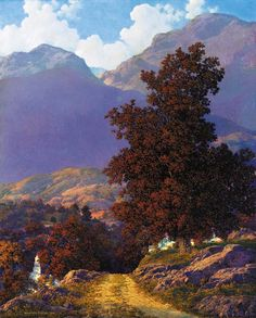 Road to the Valley by Maxfield Parrish. American Illustrator (1870–1966)