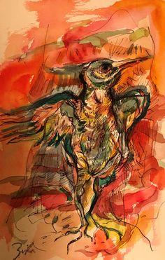 Bird Mixed mediums on paper Abstract Art, Bird, Paper, Painting, Birds, Painting Art, Paintings, Painted Canvas, Drawings