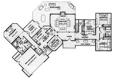 Country House Plan First Floor 016D-0069  from houseplansandmore.com