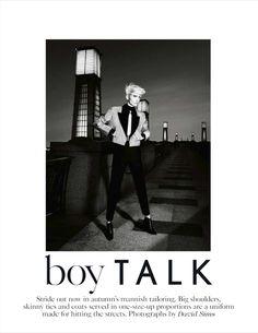 boy talk: janice alida by david sims for uk vogue september 2012