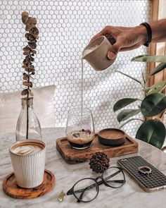 Sharing drink/dishware that I wish were in my cupboards right now  I'm fawning over that cappuccino cup the coaster tiny milk pitcher (and that wall tiling!). Which one do you wish you had at home? #woware -  c/o @bitesbymarc