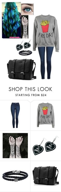 """""""One For The Road"""" by thissillykitty ❤ liked on Polyvore featuring Topshop, Adolescent Clothing, Nature Girl, Witch Worldwide and Phillip Gavriel"""