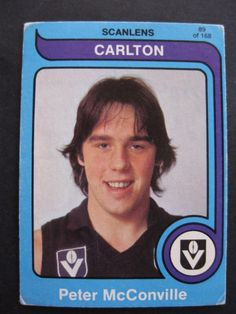 33 : Peter McConville Carlton Afl, Carlton Football Club, Challenge Cup, Go Blue, Blues, The Past, Baseball Cards, Rock, Navy