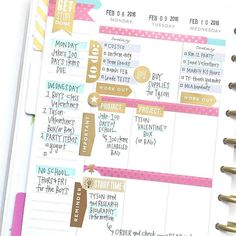 Happy Planner vertical layout separated by sections: reminders, to-do list and important.