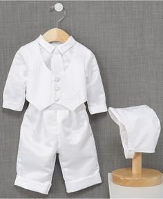 Potential Christening suit for Linus: Madison Baby Boys Suit, Baby Boys Christening Suit - Kids - Macy's