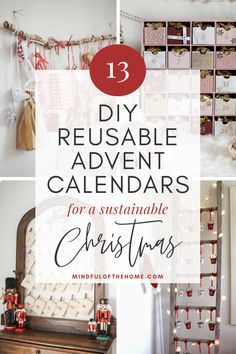 These gorgeous DIY reusable advent calendars will help you have a stylish and more eco-friendly Christmas! Fill your homemade advent calendar with small gifts, goodies, and activities. Reusable Advent Calendar, Advent Calendar Fillers, Advent Calendar Boxes, Homemade Advent Calendars, Advent Calenders, Diy Calendar, Diy Christmas Advent Calendar, Christmas Activities, Christmas Traditions