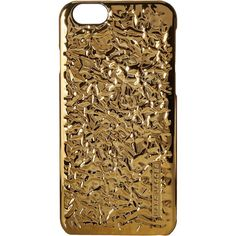 Marc Jacobs Foil iPhone 6 Case (Gold) Cell Phone Case ($18) ❤ liked on Polyvore featuring accessories, tech accessories, gold, marc jacobs and gold smartphone