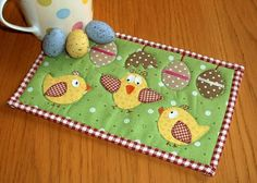 Easter Chicks Mug Rug  A little late to the party for 2013 but early for Easter 2014!