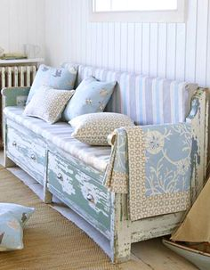 Distressed Bench (1) From: Curtains Made Simple, please visit