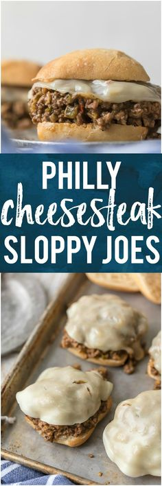 We LOVE these PHILLY CHEESESTEAK SLOPPY JOES. This simple recipe elevates a classic loved by both kids and adults alike. You can't go wrong with a sloppy joe night! We have all hear about Philly sandwiches so you know they are good. Sloppy Joe, Burger Bar, Burgers, I Love Food, Good Food, Yummy Food, Tasty, Beef Dishes, Food Dishes