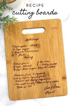 Mother's Day Gift Idea, Recipe Cutting Board, Gift For Mom - Gifts For Mom Mother Christmas Gifts, Christmas Gifts For Mom, Mother Day Gifts, Gifts For Kids, Homemade Mothers Day Gifts, Best Gifts For Mom, Homemade Christmas, Fathers Day Presents, Presents For Her