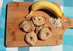 bolachas de banana e flocos de aveia