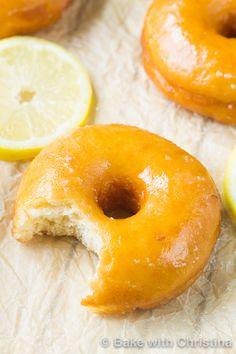 Glazed Lemon Doughnuts