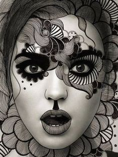 Black and White Lady (63 pieces)
