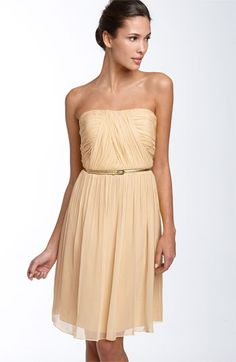 Donna Morgan Belted Chiffon Dress from Nordstrom. #bridesmaid #wedding #reception $158