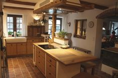 """Known from the magazine """"Landlust"""", """"The kitchen with the sofa"""". Complete solutions: everything from a single source! Modern Farmhouse Kitchens, Country Kitchen, Home Kitchens, Küchen Design, Home Decor Bedroom, Decoration, Scandinavian Style, Home Furnishings, Home Furniture"""