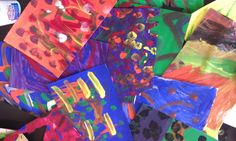 Pictures and Paint Brushes: Art Camp: Eric Carle Collage