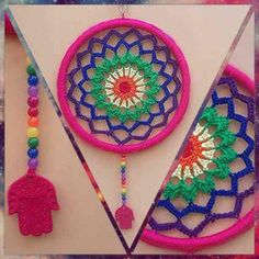 Mandalas Siete Chakras, Tejidas A Crochet,! Únicas! - $ 130,00