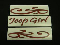 Jeep Girl Vinyl Windshield Decal Sticker by DecalsForU on Etsy, $16.50