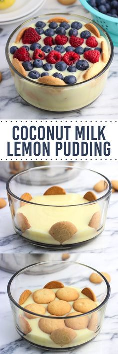 This coconut milk lemon pudding is creamy, tart, and just sweet enough ...
