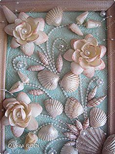 Sea Glass Crafts, Sea Crafts, Rock Crafts, Diy Arts And Crafts, Creative Crafts, Seashell Painting, Seashell Art, Seashell Crafts, Seashell Projects
