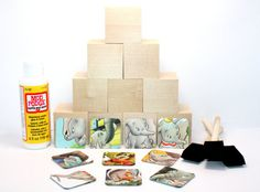 Dumbo  DIY Block Kit  Baby Shower Craft  Dumbo by Booksonblocks