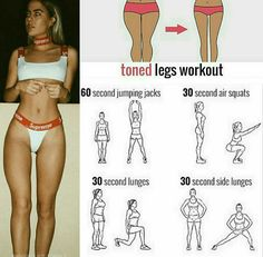 Toned Legs workout for a thigh gap! Tag a friend who'd like this workou… Toned Legs workout for a thigh gap! Tag a friend who'd like this workout! Fitness Workouts, Summer Body Workouts, Gym Workout Tips, Fitness Workout For Women, At Home Workouts, Daily Workouts, Leg Gap Workout, Leg Workout Challenge, Great Leg Workouts