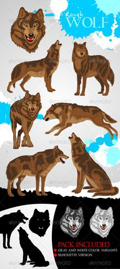 Realistic Graphic DOWNLOAD (.ai, .psd) :: http://jquery.re/pinterest-itmid-1007460055i.html ... Wolf ...  animal, brown wolf, carnivore, danger, fang, forest, gray wolf, illustration, silhouette wolf, vector, white wolf, wild, wildlife, wolf  ... Realistic Photo Graphic Print Obejct Business Web Elements Illustration Design Templates ... DOWNLOAD :: http://jquery.re/pinterest-itmid-1007460055i.html