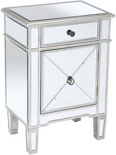 AA Importing Sullivan 2-Drawer Nightstand, Mirrored