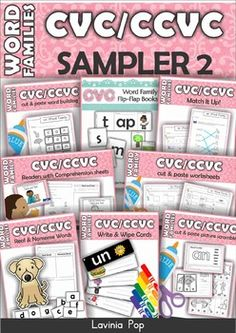 Word+Families+-+CVC+&+CCVC+MEGA+BUNDLE+Part+2+SAMPLER  This+init+contains+sample+pages+from+all+the+Word+Family+units+included+in+the+Word+Families+-+CVC+&+CCVC+MEGA+BUNDLE+Part+2.  You+can+purchase+the+Word+Families+-+CVC+&+CCVC+MEGA+BUNDLE+Part+2+here!