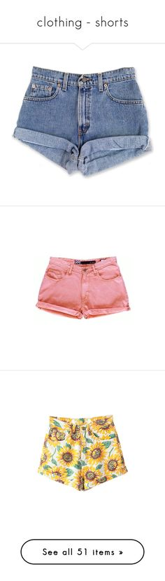 """""""clothing - shorts"""" by catladycarolyn ❤ liked on Polyvore featuring shorts, bottoms, pants, short, women's clothing, grey, high-waisted shorts, short denim shorts, cutoff denim shorts and cut-off jean shorts"""