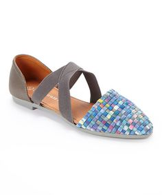 This Blue Camo Clique Leather Flat by Bernie Mev is perfect! #zulilyfinds.  $24.99