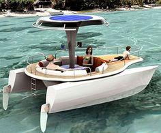 solar powered peddle boat!
