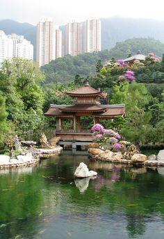 A goldfish pond and a pagoda in Nan Lian Garden, in Hong Kong (Great travel tips for visitors to Hong Kong)