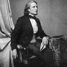 Franz Liszt. Lookin good at 45.
