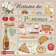 """Madame la fée - """"Histoire de Pommes""""  182 x 205 points"""